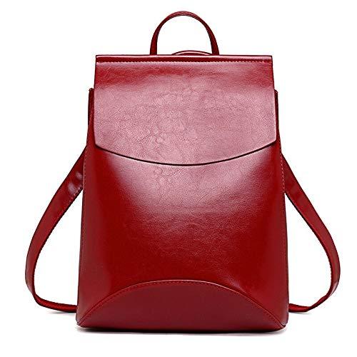 Angle-w Stylish Design,Simple Travel, Zaini di Cuoio del Carattere di Alto Backpack delle Donne di Modo per Le Ragazze Borsa a Tracolla Femminile BAGPACK Let us Go Further