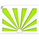 Japanese Rising Sun Stencil - Card or Plastic - A5 5.8 x 8.3 inch – Sun Width 7.5 inch - Reusable, Kids Friendly Stencil - Painting, Crafts, Cakes, Wall and Furniture Stencil (Plastic)
