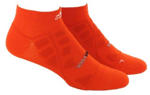 adidas Climacool Herren Laufsocke Low Cut (High Energy Orange/Weiß, Medium: Herrenschuhgröße 40-42, Damenschuhgröße 42-44)
