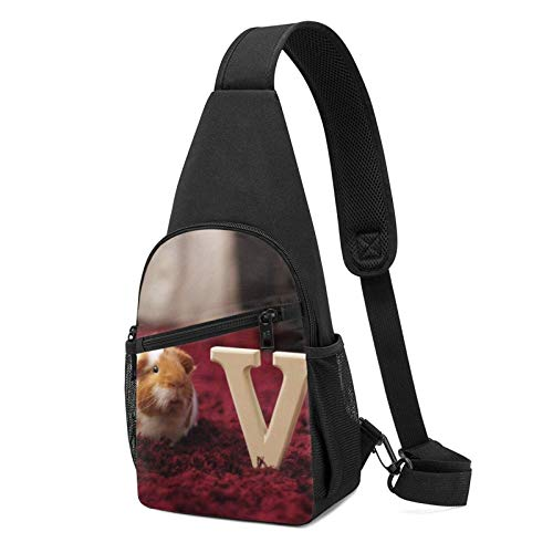 DJNGN Lindo bolso bandolera de conejillo de indias bandolera viaje senderismo mochila en el pecho
