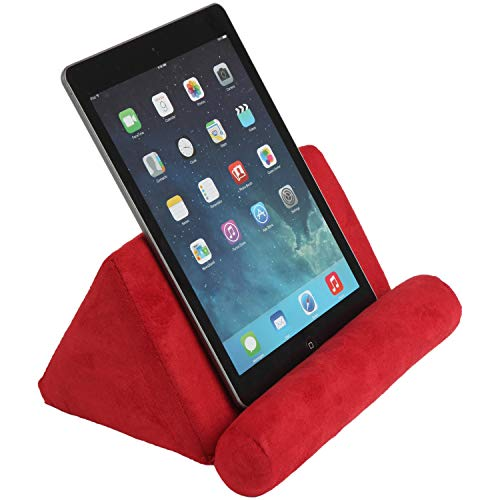 Trenton Gifts Plush Tablet Holder | Hands Free | Great for E-Readers & Smartphones | Red