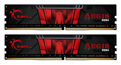 G.SKILL, F4-3200C16D-16GIS, kit di memoria, Aegis DDR4, 16GB, PC 3200, CL16 KIT (2x8GB)