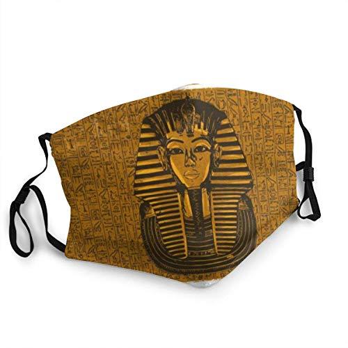 Design King Tutankhamen Egyptian Death Mask Face Mask Bandana Scarf Reusable Comfortable