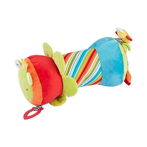 solini Krabbelrolle Froschkönig - Stoff-Rolle mit verschiedenen Spielmöglichkeiten - hilft Babys bei ersten Krabbel- & Gehversuchen - bunt