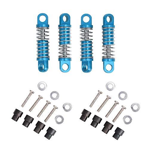 MLXG - Amortiguador de aleación (4 unidades, tipo relleno de aceite para motor Hobby), modelo de coche 1/28 K969 K989 P929 Drift Rally Bigfoot, color azul