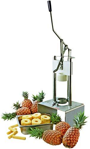 77290 machine voor ananas, eenvoudige hendel, 450 x 390 x 720 mm.