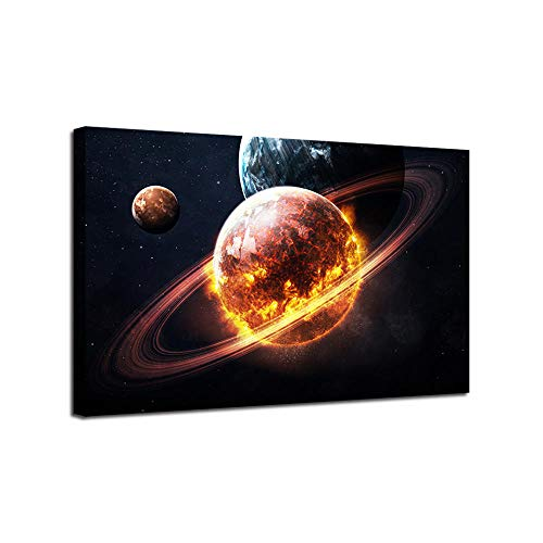 New Science Fiction fire Planet 5D DIY Diamond Painting,Cross Stitch,5D Diamond Painting Full Drill,Embroidery, Gift, Diamond Painting Kits for 30x40cm