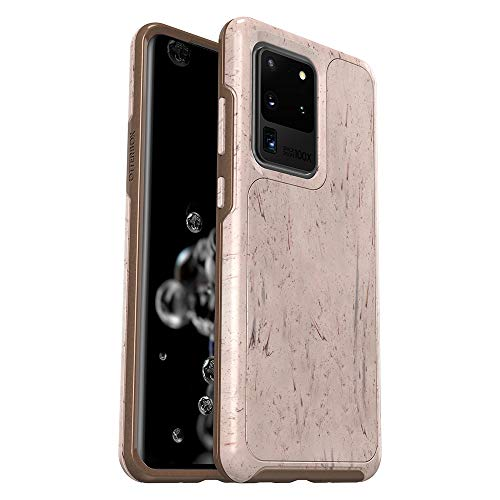 OtterBox Symmetry Series - Back cover for cell phone - polycarbonate, synthetic rubber - set in stone - for Samsung Galaxy S20 Ultra, S20 Ultra 5G