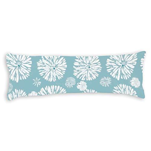 CiciDI - Federa per cuscino da letto laterale, 40 x 145 cm, traspirante, con cerniera, in cotone e poliestere, federa lunga