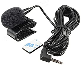 Hamanee 3.5mm Mic External Assembly Microphone for Car Vehicle Head Unit Bluetooth Enabled Audio Stereo Radio GPS DVD
