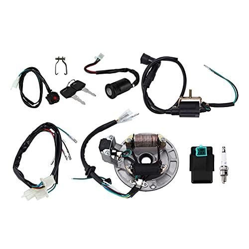 Bobina di Accensione, CDI Candela Cablaggio Cablaggio Magneto Statore Kit Sostituzione per 50cc-140cc Kick Start Dirt Pit Bike Accessorio ATV