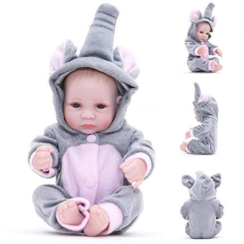 ETDWA Baby Dolls para niñas Muñecas realistas para niñas (11 Pulgadas) Ojos acrílicos de 28 cm Todo el Cuerpo está Hecho de Material de Vinilo de Silicona, muñecas Reborn para niños pequeños segur