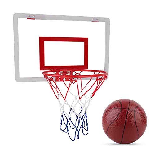 LJHLJH Basket Set Hanging Basket Parete Obiettivo del Cerchio Rim Esterna Coperta Superficie nobilitato Spessore e Ammortizzatore Libero di Pallacanes
