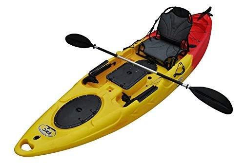 Brooklyn Kayak Company BKC UH-RA220 11-Foot 6-inch Angler Sit On Top Fishing Kayak with Paddles,...