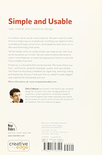 Simple and Usable Web, Mobile, and Interaction Design (Voices That Matter)