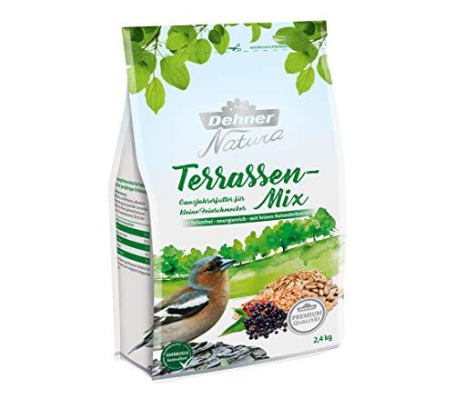 Dehner Premium Natura Wildvogelfutter, Terrassen-Mix, schalenfrei, 2.4 kg