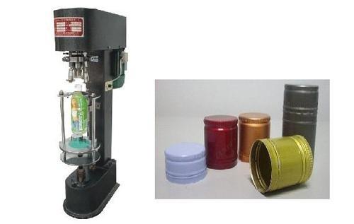 Gowe Machine arrondi en métal, Bouchon en aluminium de Machine, bouteille en plastique arrondi en machine, multifonctions, à capsule à vis pour différentes Taille du bonnet (chasse Taille 20–35 mm)