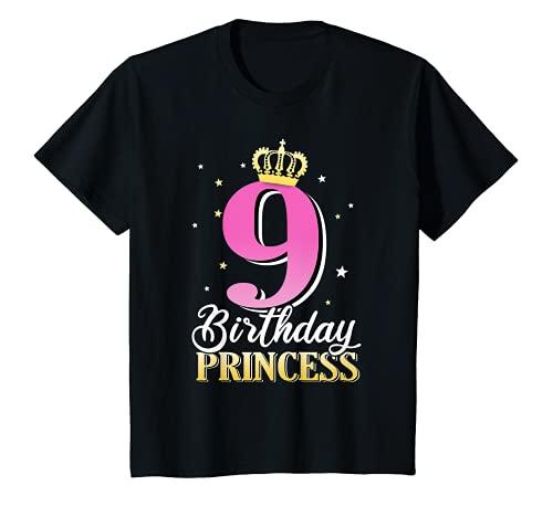 Niños 9º cumpleaños niña 9 años 2011 princesa fiesta regalo Camiseta
