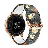 YPSNH Correa Samsung Active Watch,Silicona Reemplazo Correas 20mm Pulseras de Patrón Correa Suave Compatible con Samsung Active2/Galaxy Watch 42mm/Gear S2 Classic/Gear Sport/Galaxy Watch 3 41MM