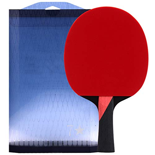 Best Prices! LIULU Ping Pong Paddle 7 Star Single Shot Pure Wood Table Tennis Racket Suitable for Ch...