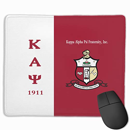 Kappa Alpha Psi Computer Mouse Pad with Non-Slip Rubber Base for Gaming Office Mouse 9.8 X 11.8 Inch