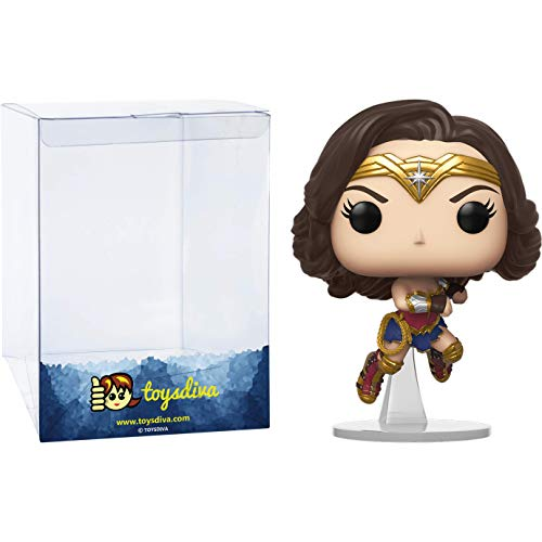 Wonde r Woma n Flying: Funk o Pop! Heroes Vinyl Figure Bundle with 1 Compatible 'ToysDiva' Graphic Protector (322 - 47373 - B)