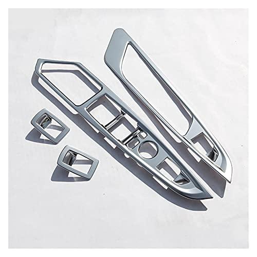 JIAQING Chrome Placa ABS Puerta Interruptor de la Ventana Botón Panel de la Cubierta Pegatina de Ajuste Ajuste para BMW X5 X6 F15 F16 Estilo de automóvil para Coche de la Mano Izquierda