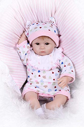 Pinky Soft Vinyl Silicone 17' 43cm Real Life Like Reborn Baby Doll...