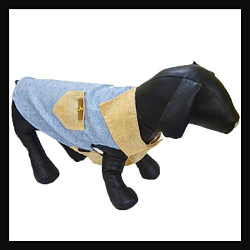 Zap Impex overhemd voor huisdieren, hondenkleding, puppy klassiek linnen hemd stretch jurk, 3XL