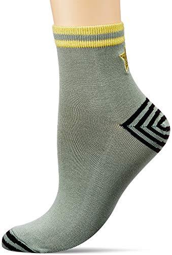 Tom Joule Damen Brilliant Bamboo Embriodered Lässige Socken, Khaki Star, One