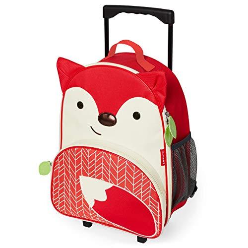Skip Hop Zoo Luggage, trolley da viaggio per bambini, con targhetta nome, Volpe Ferguson, multicolore