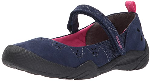 M.A.P. Girls Rona Outdoor Mary Jane Flat, Navy/Pink, 5 M US Big Kid