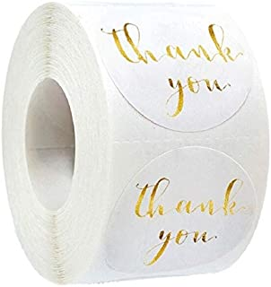 Assorted Stickers - Round white Thank You Sticker Seal Labels Gift Decoration Sticker for Package Stationery Sticker (100pcs)