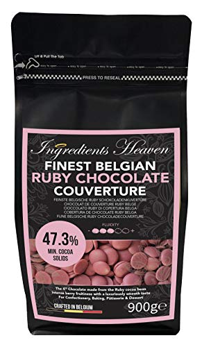 Ingredients Heaven - Feinste Belgische Ruby Schokoladenkuvertüre - Finest Belgian Ruby Chocolate Couverture - 900g