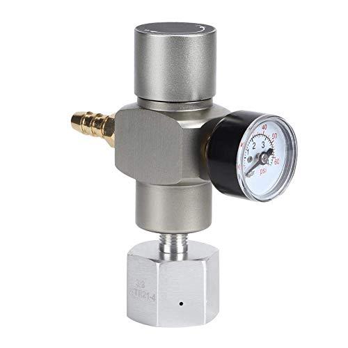 LKK-KK Medidor de presión de prueba de gas, 2 en 1 mini regulador de gas CO2 medidor de presión de sodio con adaptador 3 / 8in a TR21.4 para sodiales