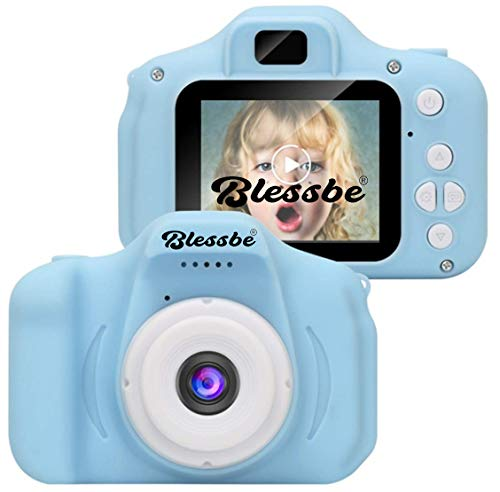 BLESSBE Kids Digital Camera, Web Camera for Computer Child Video Recorder Camera Full HD 1080P Handy Portable Camera 2.0 Screen, with Inbuilt Games for Kids (Blue) - BB16