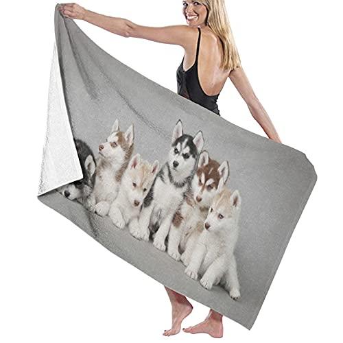 KASMILN Toallas de baño,de Playa,Cachorros Husky Siberiano Perros MascotasMuy Absorbente y Suave,...