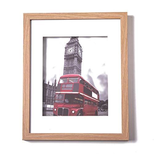 Muzilife Tiefe Bilderrahmen 28x35cm 1 Stück mit Glasscheibe Natur 3D Fotorahmen für Portrait/Galerie im Wohnzimmer oder Kaffee
