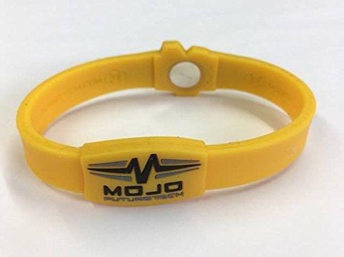 Mojo Raptor - Braccialetto olografico doppio, 20,3 cm, colore: Giallo/Nero/Grigio