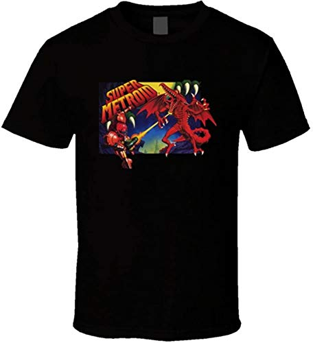 Super Metroid SNES Box Art Retro Video Game T Shirt,X-Large