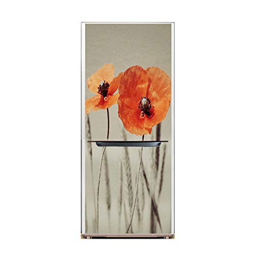 XIAOMAN Adesivi per frigo da Cucina Daisy HD Frigorifero Porta Wrap Cover Rimovibile Autoadesivo Fai da Te Art Decal (Color : 1, Size : 60 * 180cm)