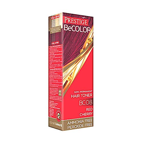 Vips Prestige BeColor Tinte Semi Permanente Color Rojo Cereza BC08, Sin Amoniaco Sin Peroxide