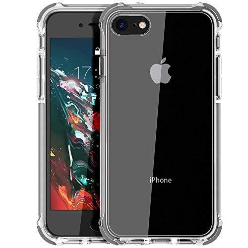 MATEPROX Cover iPhone SE 2020,Cover iPhone 8,Cover iPhone 7,Custodia Protezione Slim Anti Scivolo Anticaduta Anti-shocke Antiurto AntiGraffio Posteriore Trasparent Cover per iPhone 8/7/SE 2020-Grey