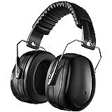 Casque de sécurité anti-bruit - Protection auditive - NRR 28 dB - Pour adultes - Compact et pliable - Pour le bricolage, le tir, la pelouse ou la chasse - Pour homme et femme