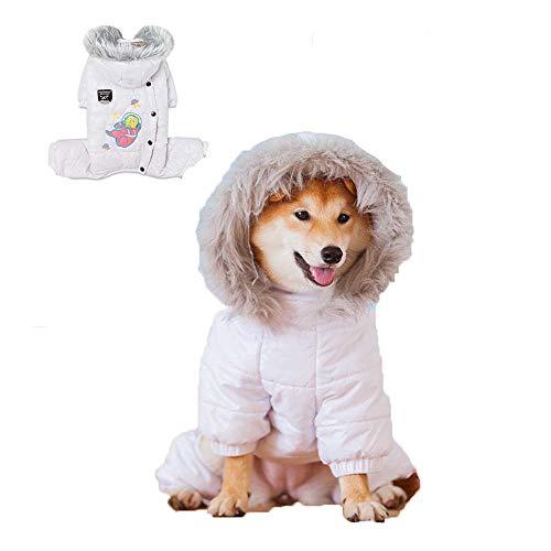 ZWW katoenen mantel voor huisdieren, voor honden, dikke gordijnen van katoen, wit, roze