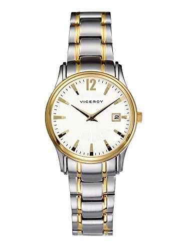 Viceroy 47782–25–Reloj de Pulsera, Correa de Acero Inoxidable Color Plata