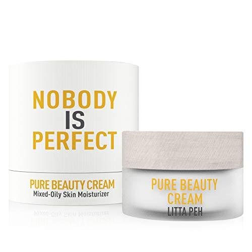 CREMA HIDRATANTE Facial Mujer - PURE BEAUTY CREAM - Crema Piel Grasa Mixta Orgánica - Tratamiento BIO Crema Antiacne - Usar con BIO Serum Facial - 50ml