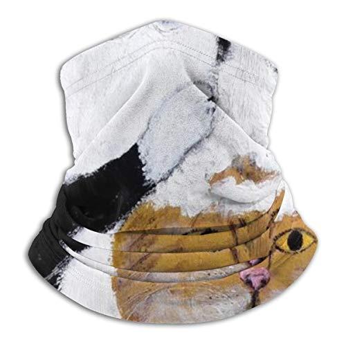 Wash The Cat Head Fleece Neck Guêtres Hiver Coupe-vent Ski Masque Visage Cagoule Demi-Masque Pour Femmes Hommes