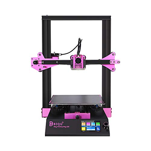 BIQU B1 FDM 3D Printer TFT35 V3.0 Two Working Modes Touch Screen with Removable Heatbed Surface Platform Ultra-Silence Drivers VS Ender 3 V2 3D Printer(Pink)
