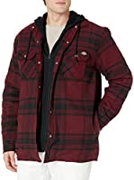 Dickies mens Relaxed Fit Hooded Quilted Shirt Jacket